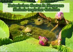 Botanischen Garten in Singapore – Sinfonie tropischer Grüntöne (Wandkalender 2019 DIN A3 quer) von Müller,  Erika