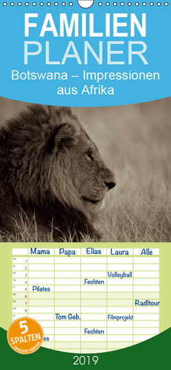 Botswana – Impressionen aus Afrika – Familienplaner hoch (Wandkalender 2019 , 21 cm x 45 cm, hoch) von Franz Josef Hering,  Dr.