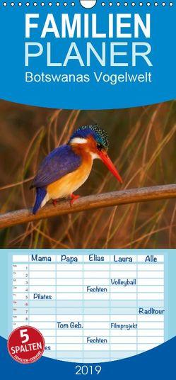 Botswanas Vogelwelt – Familienplaner hoch (Wandkalender 2019 , 21 cm x 45 cm, hoch) von Voss,  Michael
