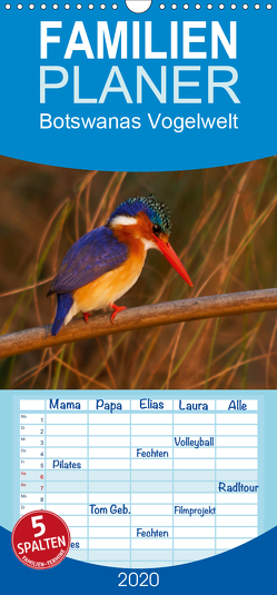 Botswanas Vogelwelt – Familienplaner hoch (Wandkalender 2020 , 21 cm x 45 cm, hoch) von Voss,  Michael