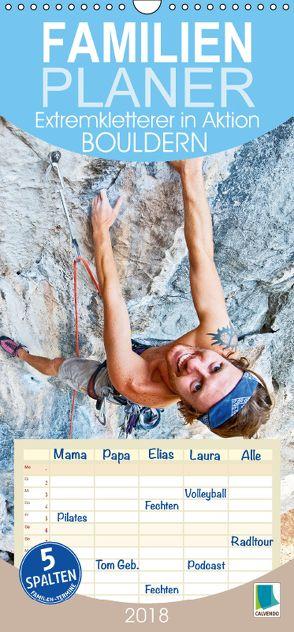 Bouldern: Extremkletterer in Aktion (Wandkalender 2018 PRO_49_format hoch) von CALVENDO,  k.A.