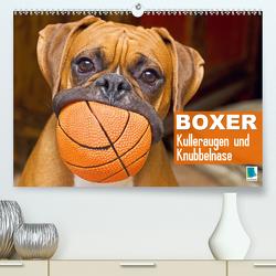 Boxer: Kulleraugen und Knubbelnase (Premium, hochwertiger DIN A2 Wandkalender 2020, Kunstdruck in Hochglanz) von CALVENDO