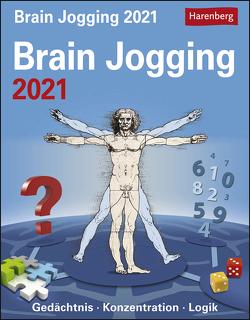 Brain Jogging Kalender 2021 von Harenberg, Heine,  Stefan