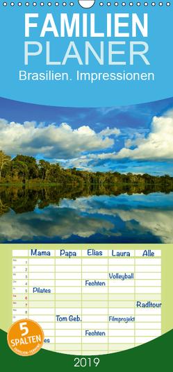 Brasilien. Impressionen – Familienplaner hoch (Wandkalender 2019 , 21 cm x 45 cm, hoch) von Stanzer,  Elisabeth