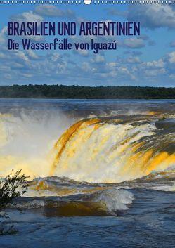 BRASILIEN UND ARGENTINIEN. Die Wasserfälle von Iguazú (Wandkalender 2019 DIN A2 hoch) von J.Fryc