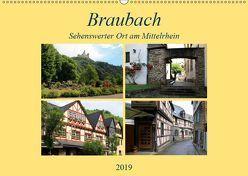Braubach – Sehenswerter Ort am Mittelrhein (Wandkalender 2019 DIN A2 quer) von Klatt,  Arno