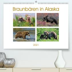 Braunbären in Alaska (Premium, hochwertiger DIN A2 Wandkalender 2021, Kunstdruck in Hochglanz) von Wilczek,  Dieter-M.