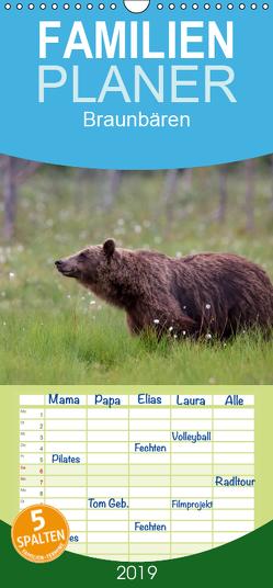 Braunbären – pelzige Riesen in Finnlands Wäldern – Familienplaner hoch (Wandkalender 2019 , 21 cm x 45 cm, hoch) von Sandra Eigenheer,  ©