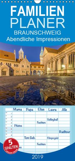 BRAUNSCHWEIG – Abendliche Impressionen – Familienplaner hoch (Wandkalender 2019 , 21 cm x 45 cm, hoch) von Berkhoff,  Christine