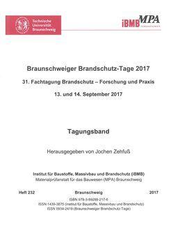 Braunschweiger Brandschutz-Tage 2017 von Zehfuß,  Jochen