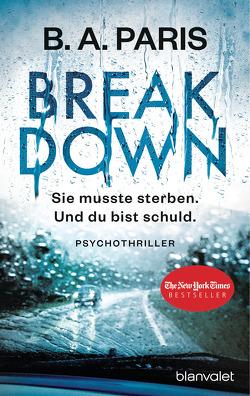 Breakdown – Sie musste sterben. Und du bist schuld von Bergner,  Wulf, Paris,  B.A.