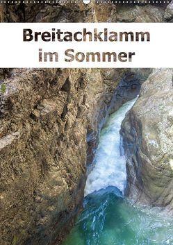 Breitachklamm im Sommer (Wandkalender 2019 DIN A2 hoch) von Brunner-Klaus,  Liselotte