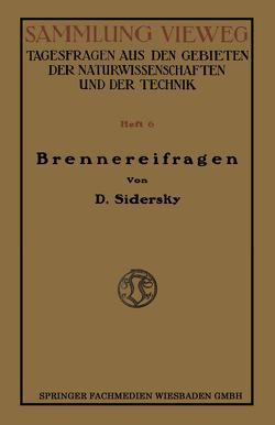 Brennereifragen von Sidersky,  D.