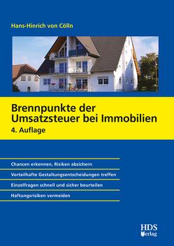 Brennpunkte der Umsatzsteuer bei Immobilien von von Cölln,  Hans-Hinrich