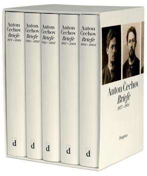 Briefe 1877–1904 in 5 Bänden in Kassette von Cechov,  Anton, Urban,  Peter