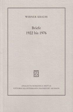 Briefe 1922 bis 1976 von Jehle,  Peter, Krauss,  Werner