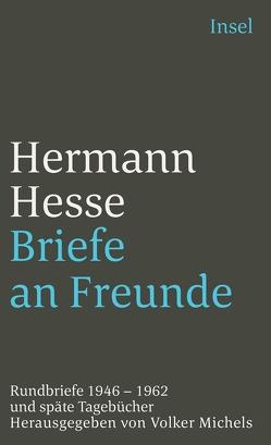 Briefe an Freunde von Hesse,  Hermann, Michels,  Volker