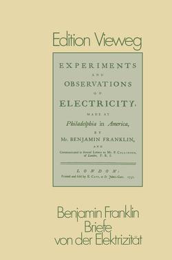 Briefe von der Elektrizität von Franklin,  Benjamin