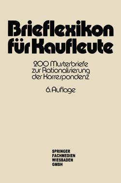 Brieflexikon für Kaufleute von Springer Fachmedien