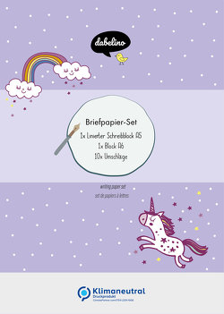 Briefpapier-Set für Kinder: Einhorn