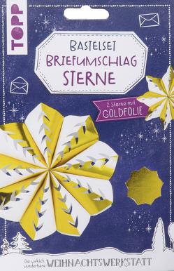 Briefumschlag-Sterne Bastelset mit Goldfolie von Steffan,  Christiane