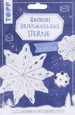 Briefumschlag-Sterne Bastelset mit Silberfolie von Steffan,  Christiane
