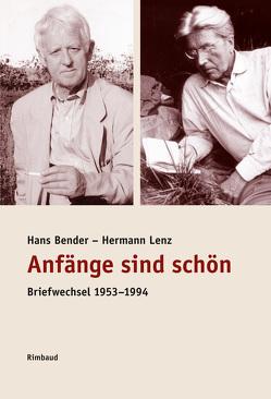 Briefwechsel von Bender,  Hans, Hörner,  Walter, Kostka,  Jürgen, Lenz,  Hermann, Schwark,  Hans Georg