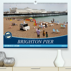 Brighton Pier Bunter Sommer (Premium, hochwertiger DIN A2 Wandkalender 2021, Kunstdruck in Hochglanz) von Kruse,  Gisela