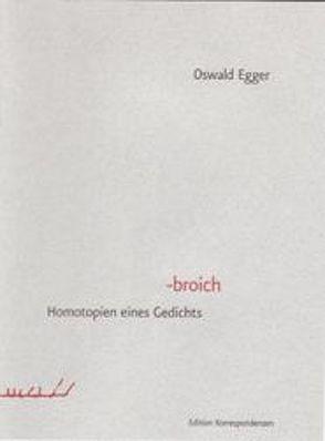 -broich von Egger,  Oswald