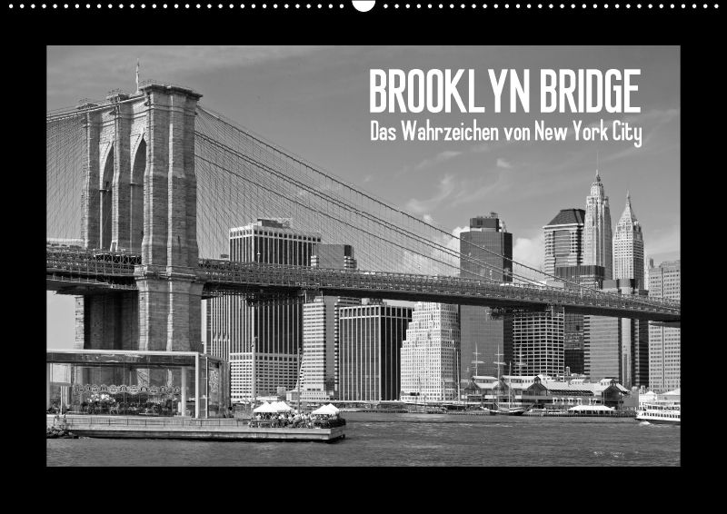 brooklyn bridge das wahrzeichen von new york city wandkalender 2018 d. Black Bedroom Furniture Sets. Home Design Ideas