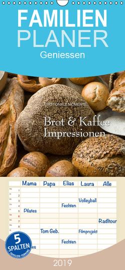 Brot & Kaffee Impressionen 2019 – Familienplaner hoch (Wandkalender 2019 , 21 cm x 45 cm, hoch) von Gerlach GDT,  Ingo