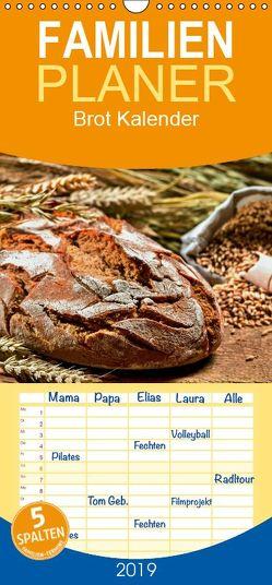 Brot Kalender – Familienplaner hoch (Wandkalender 2019 , 21 cm x 45 cm, hoch) von Atlantismedia