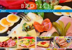 Brotzeit. Zünftige Schmankerl der bayerischen Kultur (Wandkalender 2021 DIN A2 quer) von Hurley,  Rose