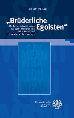 """""""Brüderliche Egoisten"""" von Telge,  Claus"""