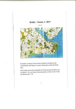 Brühl Notate 1-2017 von Hubbe,  Jürgen - Werner