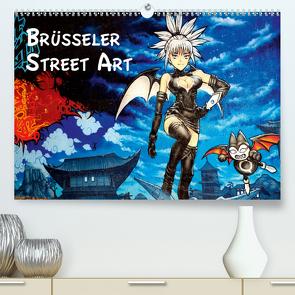 Brüsseler Street Art (Premium, hochwertiger DIN A2 Wandkalender 2020, Kunstdruck in Hochglanz) von pbombaert