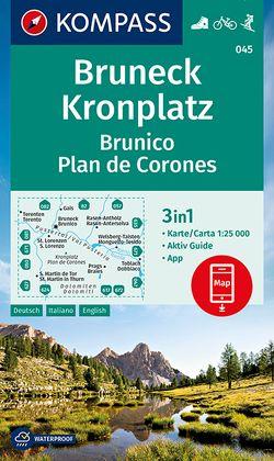 Bruneck, Kronplatz Brunico Plan de Corones von KOMPASS-Karten GmbH