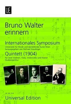Bruno Walter erinnern von Staudinger,  Michael