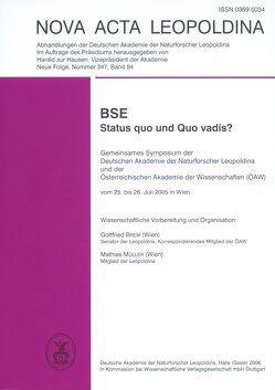 BSE – Status quo und Quo vadis? von Brem,  G., Müller,  Mathias