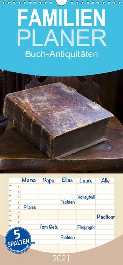 Buch-Antiquitäten – Familienplaner hoch (Wandkalender 2021 , 21 cm x 45 cm, hoch) von Gruch,  Ulrike