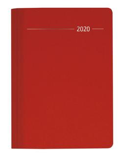 Buchkalender Silk Line Ruby 2020 – Bürokalender A5 – Cheftimer – 1 Tag 1 Seite – 416 Seiten – Terminplaner – Notizbuch von ALPHA EDITION