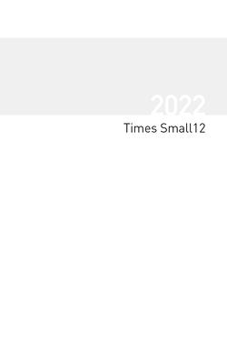 Buchkalender Times Small12 Einlage 2022 von Korsch Verlag