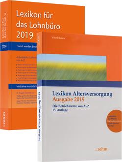 Buchpaket Lexikon für das Lohnbüro und Lexikon Altersversorgung 2019 von Fath,  Ralf, Plenker,  Jürgen, Schönfeld,  Wolfgang, Urbitsch,  Christian