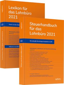 Buchpaket Lexikon für das Lohnbüro und Steuerhandbuch 2021 von Plenker,  Jürgen, Schaffhausen,  Heinz-Willi, Schönfeld,  Wolfgang