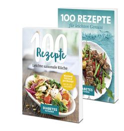 Buchset 2x 100 Rezepte für leichten Genuss von Baum,  Andreas, Becker,  Marc, Broicher,  Anja, Eichner,  Carsten, Günther,  Michelle, Karl,  Angelika, Köhle,  Anne-Bärbel, Töpfer,  Katja