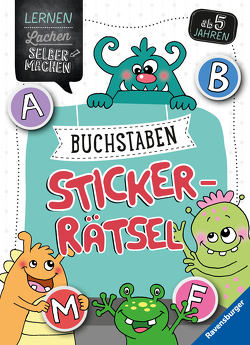 Buchstaben-Sticker-Rätsel von Jebautzke,  Kirstin, Penner,  Angelika