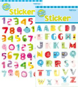 Buchstaben- und Zahlensticker