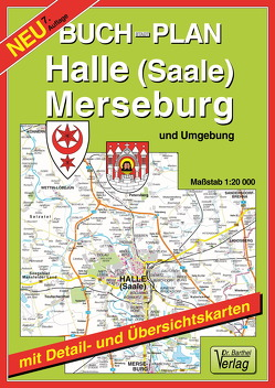 Buchstadtplan Halle (Saale) , Merseburg und Umgebung