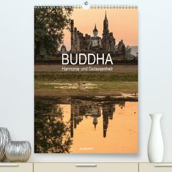 Buddha – Harmonie und Gelassenheit (Premium, hochwertiger DIN A2 Wandkalender 2021, Kunstdruck in Hochglanz) von BuddhaART