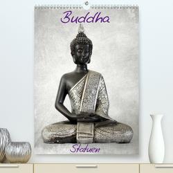 Buddha Statuen / CH-Version (Premium, hochwertiger DIN A2 Wandkalender 2021, Kunstdruck in Hochglanz) von JUSTART